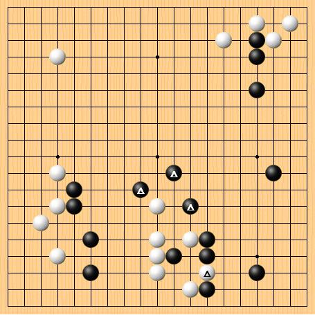 2016-12-30 黑:阿尔法狗 白:朴廷桓 共255手,黑胜5目半